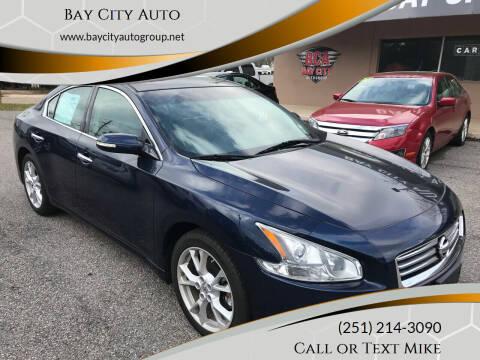 2014 Nissan Maxima for sale at Bay City Auto's in Mobile AL