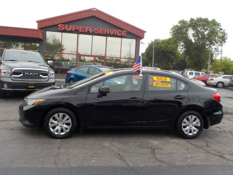 2012 Honda Civic for sale at Super Service Used Cars in Milwaukee WI