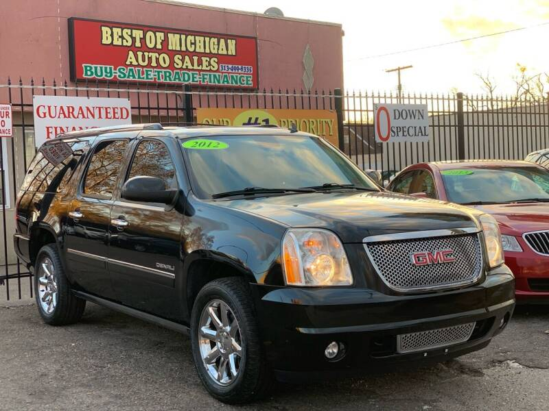2012 GMC Yukon XL for sale at Best of Michigan Auto Sales in Detroit MI