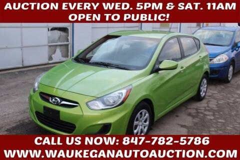 2013 Hyundai Accent for sale at Waukegan Auto Auction in Waukegan IL