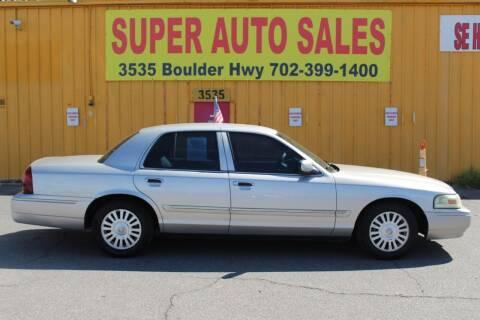 2007 Mercury Grand Marquis for sale at Super Auto Sales in Las Vegas NV