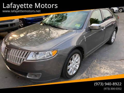2012 Lincoln MKZ for sale at Lafayette Motors in Lafayette NJ