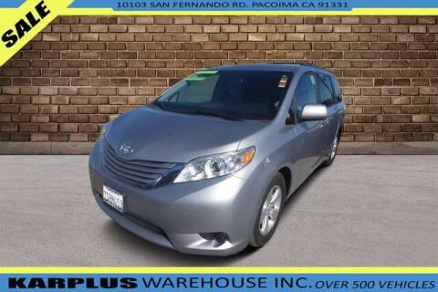 2016 Toyota Sienna for sale at Karplus Warehouse in Pacoima CA