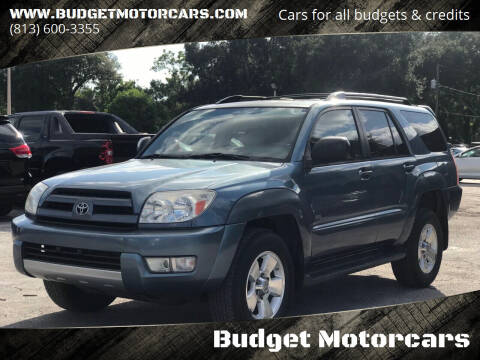 2004 Toyota 4Runner for sale at Budget Motorcars in Tampa FL