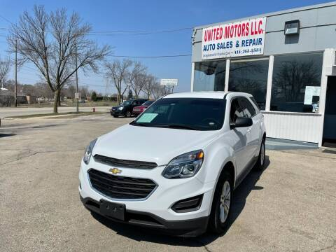 2017 Chevrolet Equinox for sale at United Motors LLC in Saint Francis WI