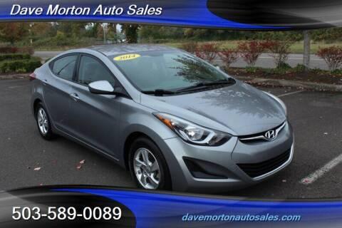 2014 Hyundai Elantra for sale at Dave Morton Auto Sales in Salem OR