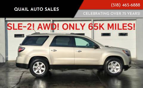 2014 GMC Acadia for sale at Quail Auto Sales in Albany NY