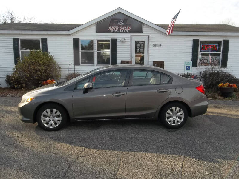 2012 Honda Civic for sale at R & L AUTO SALES in Mattawan MI