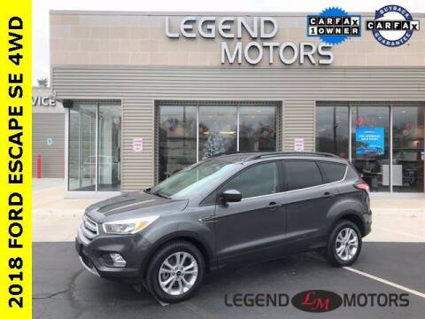 2018 Ford Escape for sale at Legend Motors of Waterford in Waterford MI
