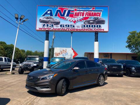 2015 Hyundai Sonata for sale at ANF AUTO FINANCE in Houston TX