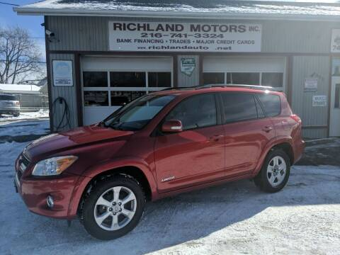 2009 Toyota RAV4 for sale at Richland Motors in Cleveland OH