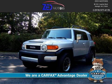 2007 Toyota FJ Cruiser for sale at Zed Motors in Raleigh NC