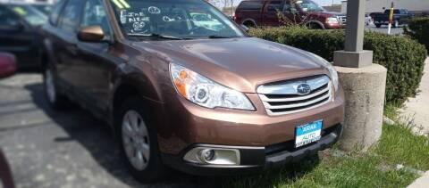 2011 Subaru Outback for sale at Arak Auto Group in Bourbonnais IL