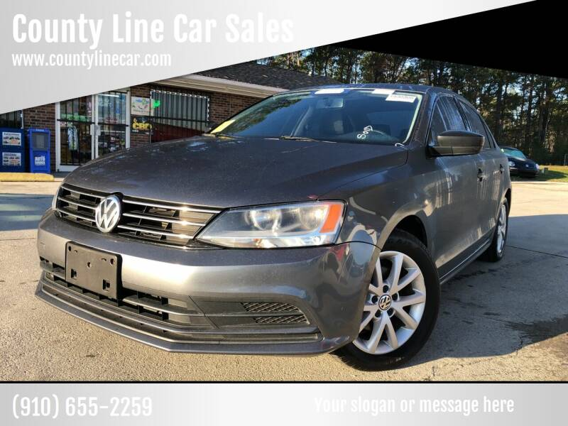 2015 Volkswagen Jetta for sale at County Line Car Sales Inc. in Delco NC