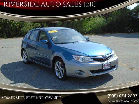 2008 Subaru Impreza for sale at RIVERSIDE AUTO SALES INC in Somerset MA