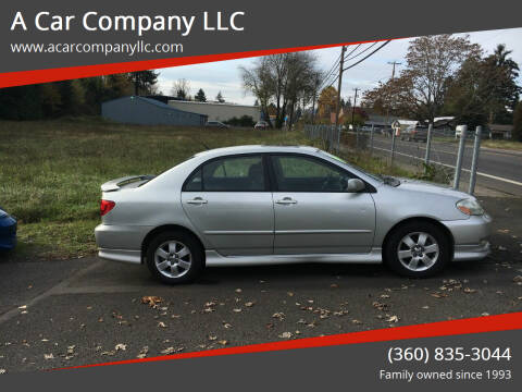 2003 Toyota Corolla for sale at A Car Company LLC in Washougal WA