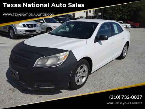 2013 Chevrolet Malibu for sale at Texas National Auto Sales in San Antonio TX