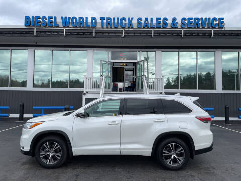 2016 Toyota Highlander for sale at Diesel World Truck Sales in Plaistow NH