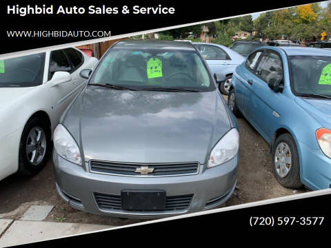 2008 Chevrolet Impala for sale at Highbid Auto Sales & Service in Arvada CO