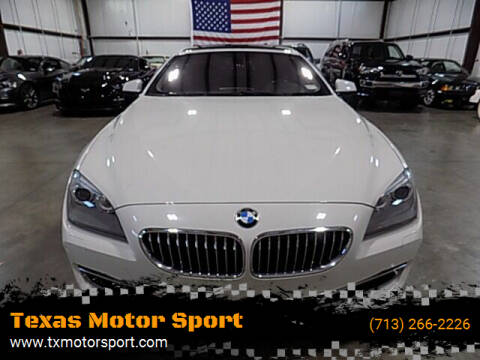 2013 BMW 6 Series for sale at Texas Motor Sport in Houston TX