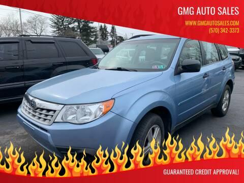 2012 Subaru Forester for sale at GMG AUTO SALES in Scranton PA