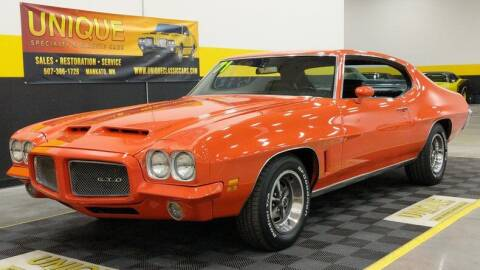 1971 Pontiac GTO for sale at UNIQUE SPECIALTY & CLASSICS in Mankato MN
