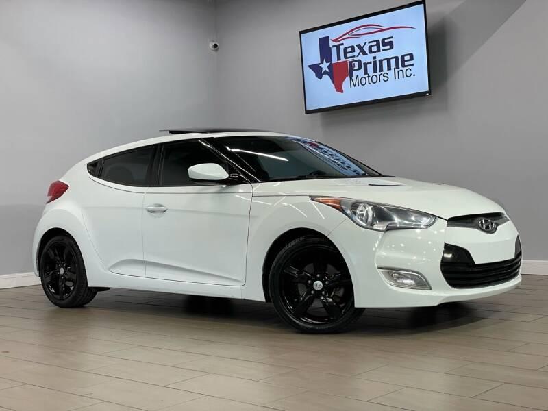 2014 Hyundai Veloster for sale at Texas Prime Motors in Houston TX