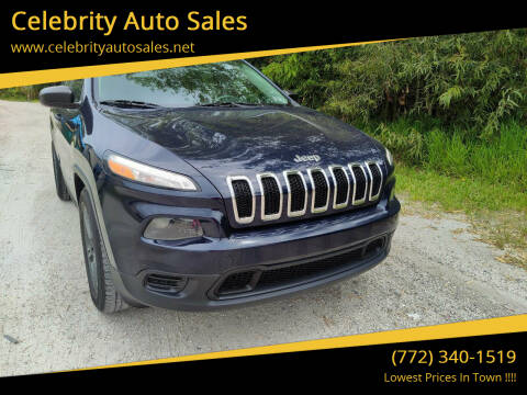 2014 Jeep Cherokee for sale at Celebrity Auto Sales in Fort Pierce FL
