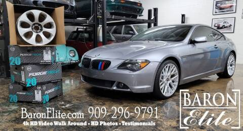 2006 BMW 6 Series for sale at Baron Elite in Upland CA