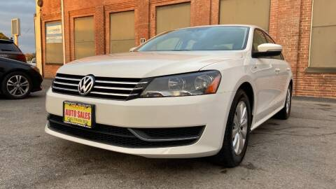 2013 Volkswagen Passat for sale at Rocky's Auto Sales in Worcester MA