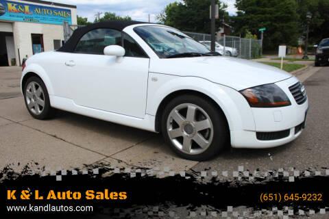 2002 Audi TT for sale at K & L Auto Sales in Saint Paul MN