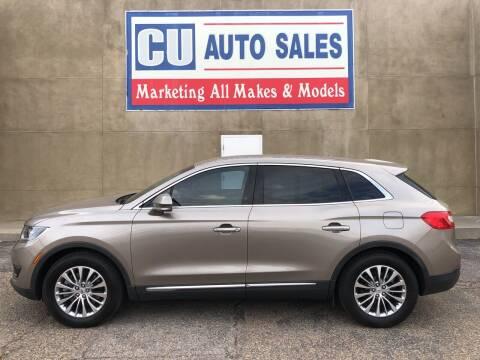 2018 Lincoln MKX for sale at C U Auto Sales in Albuquerque NM