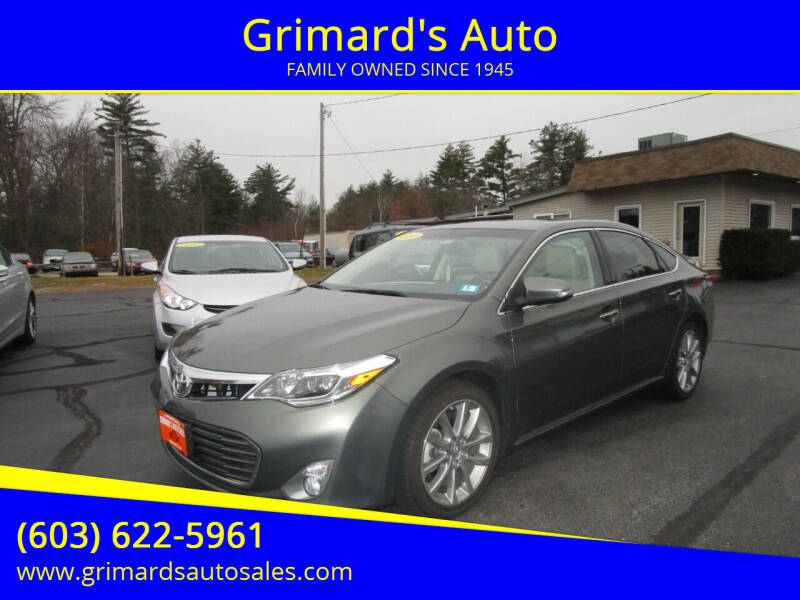 2014 Toyota Avalon for sale at Grimard's Auto in Hooksett, NH