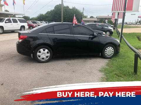 2012 Chevrolet Cruze for sale at FREDY CARS FOR LESS in Houston TX