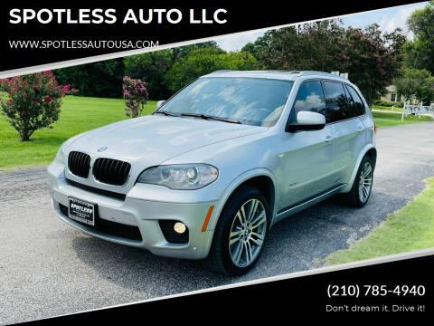 2012 BMW X5 for sale at SPOTLESS AUTO LLC in San Antonio TX