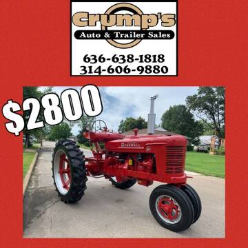 Farmall H Tractor Parade Tractor for sale at CRUMP'S AUTO & TRAILER SALES in Crystal City MO