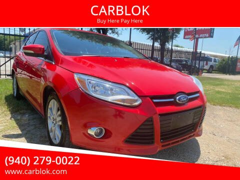 2012 Ford Focus for sale at CARBLOK in Lewisville TX