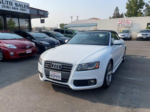 2012 Audi A5 for sale at Adams Auto Sales in Sacramento CA