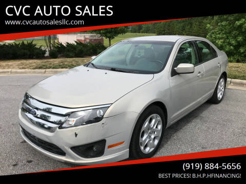 2010 Ford Fusion for sale at CVC AUTO SALES in Durham NC