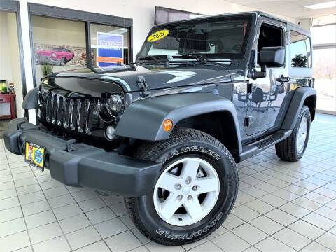 2016 Jeep Wrangler for sale at SAINT CHARLES MOTORCARS in Saint Charles IL
