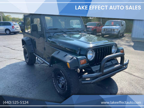 1997 Jeep Wrangler for sale at Lake Effect Auto Sales in Chardon OH
