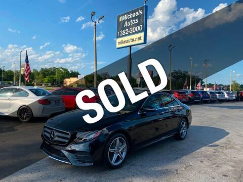 2018 Mercedes-Benz E-Class for sale at Michaels Autos in Orlando FL