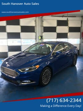 2017 Ford Fusion for sale at South Hanover Auto Sales in Hanover PA