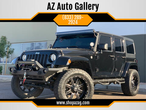 2016 Jeep Wrangler Unlimited for sale at AZ Auto Gallery in Mesa AZ