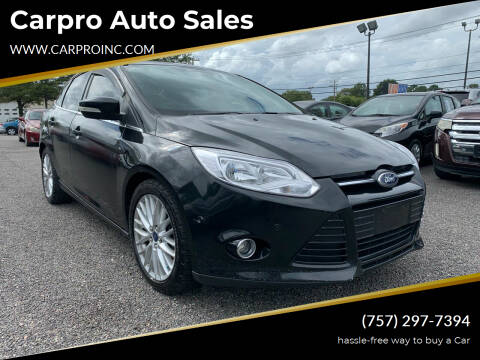 2013 Ford Focus for sale at Carpro Auto Sales in Chesapeake VA