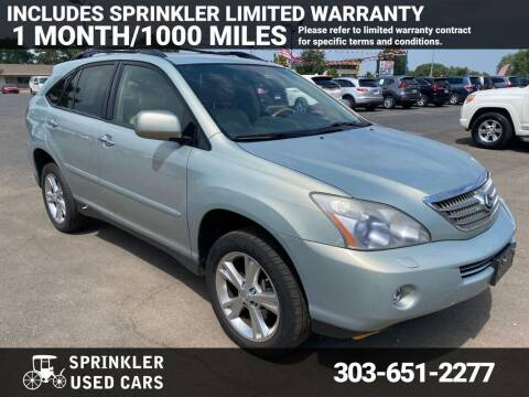 2008 Lexus RX 400h for sale at Sprinkler Used Cars in Longmont CO