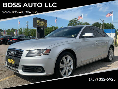 2011 Audi A4 for sale at BOSS AUTO LLC in Norfolk VA