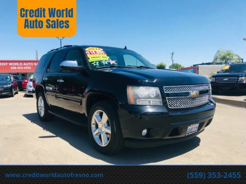 2011 Chevrolet Tahoe for sale at Credit World Auto Sales in Fresno CA