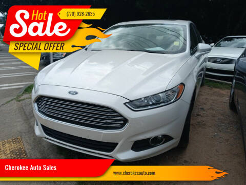 2016 Ford Fusion for sale at Cherokee Auto Sales in Acworth GA
