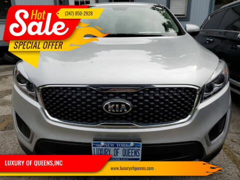2018 Kia Sorento for sale at LUXURY OF QUEENS,INC in Long Island City NY